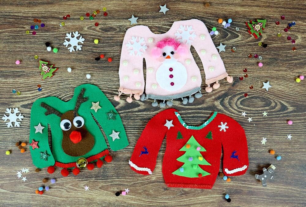 """Zimowe sweterki – Pomysł na rodzinny konkurs na """"Ugly Sweater"""""""