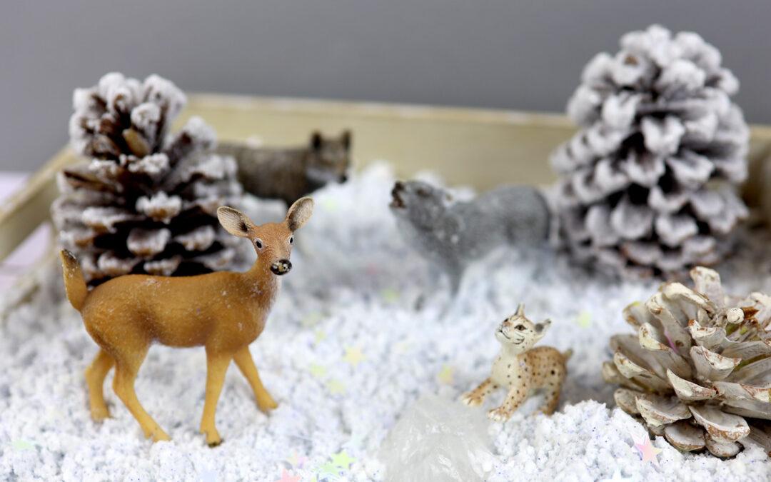 Zima w domu – zabawy ze sztucznym śniegiem – FILM