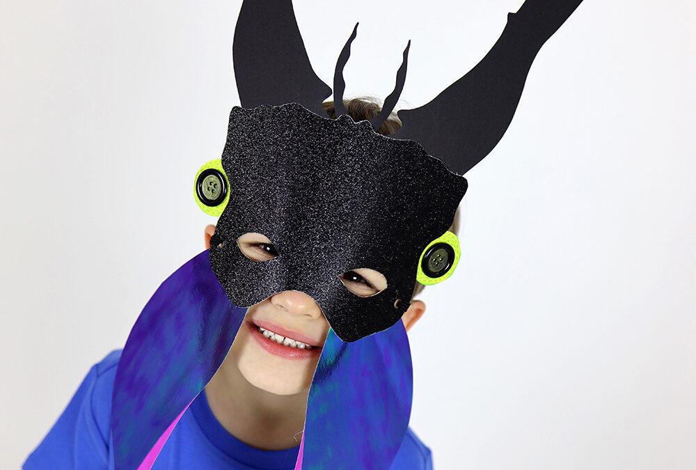 Maska żuka – Pomysł na kreatywną maskę karnawałową