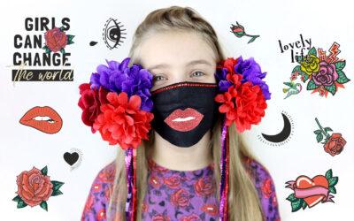 Maska kwiatowa – pomysł na kreatywną maskę karnawałową, na usta!