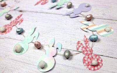 Wielkanocna girlanda – pastelowa ozdoba na święta DIY